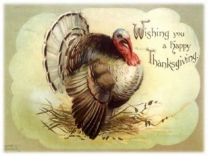 thanksgiving vintage postcard